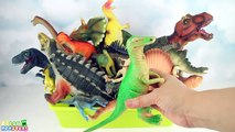 My Dinosaurs Toy Box! Surprise Collection Jurassic World Toys. Learn names Dinosaurs for Kid.