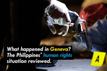 What happened in Geneva: International response to Philippines' drug war.