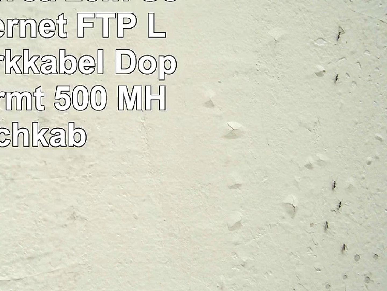 1aTTack CAT5e 2x RJ45 Stecker Crossover UTP Netzwerk Patch-Kabel 15m gr/ün-grau