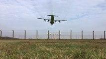 Antonov AN 12 landing @ FKB -MULTICAM-