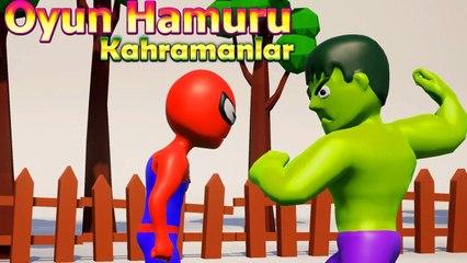 Örümcek Adam ve Hulk Elsa için Kavga Ediyor - Oyun Hamuru Çizgi Film Süper Kahramanlar