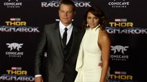"Matt Damon and Luciana Barroso ""Thor: Ragnarok"" World Premiere Red Carpet"