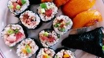 VEGAN SUSHI (Spicy Tuna Roll + Nigiri Sushi)