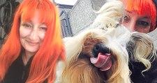 43 Yaşındaki Kadın, Sadık Olduğu İçin Köpeğiyle Evlendi!