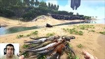ARK Survival Evolved Titanosaur MOD Vs ARK TEST batalla dinosaurios arena gameplay español