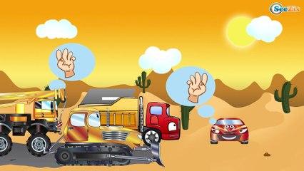 Мультики для детей. Экскаватор, Кран и Грузовик - Строительные Машинки Приключения в Пустыне