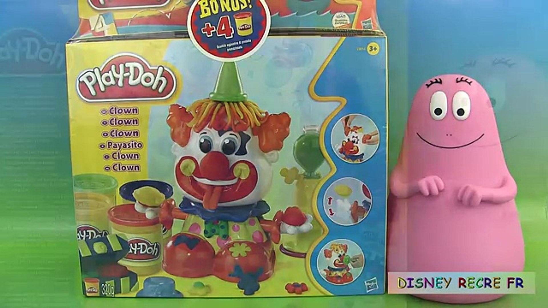 Play Doh Party Clown Set Pâte à modeler Le Clown Play-Doh Barbapapa Plastilina Payasito