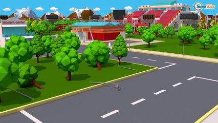 Trator encontrado e Reboque   Novo Desenhos animados de caminhão para crianças