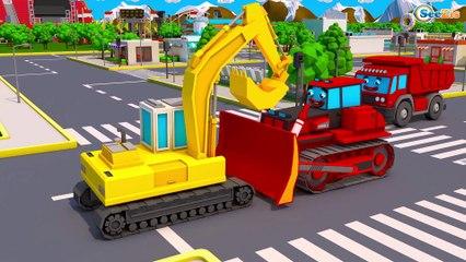 NOVO Desenho Animado - Trator com super balde | Video para criançinhas Compilação