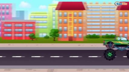Мультики про Машинки Грузовик - Гонки с препятствиями Мультфильмы для детей