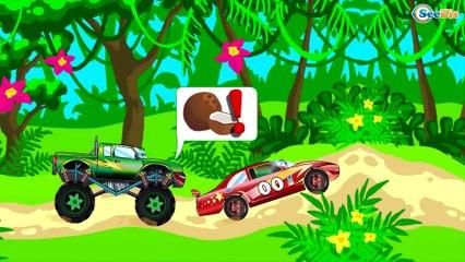 СБОРНИК: Мультики про МАШИНКИ Монстр Трак ГОНКИ В ГОРОДЕ - Развивающие видео для детей