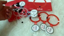 Lokai Bracelets Size Comparison and Red Christmas Lokai