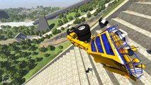 Stairs Jumps Down - BeamNG Drive Crashes & Fails Compilation Montage