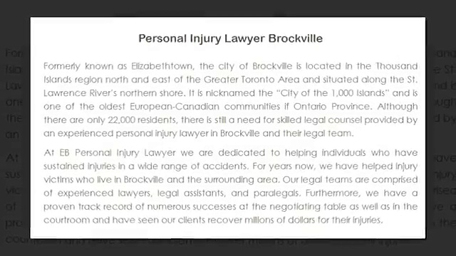 Personal Injury Lawyer Stratford ON – EB Personal Injury Lawyer (800) 274-6109
