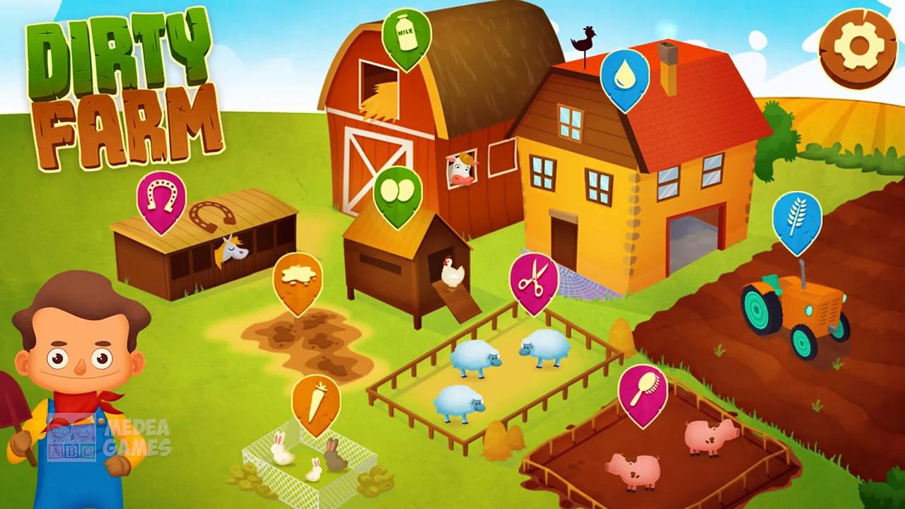 Fun Animals Care – Cleaning & Bath For Farm Animals – Fun Baby Learn Farm Animals & Farm Works