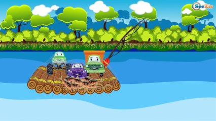 Monster Truck   Water Race   Cartoons for children   Video for kids