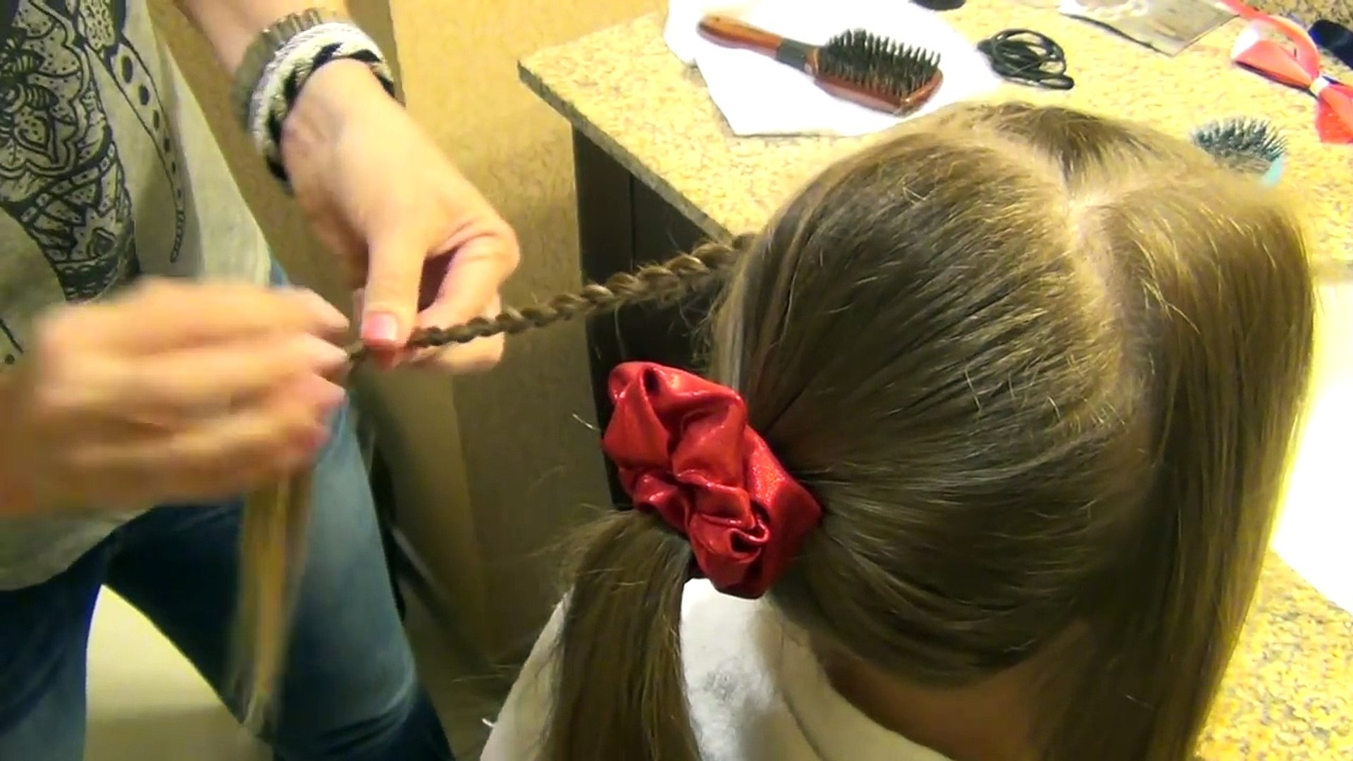Gymnastics Competition Hair Tutorial