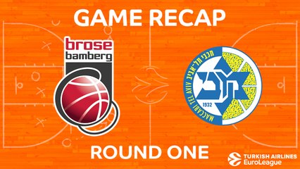 EuroLeague 2017-18 Highlights Regular Season Round 1 video: Brose Bamberg 71-88 Maccabi