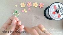 Quilling Bracelet Learning Video 1 // Paper Bracelet // Flower Bracelet