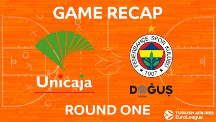 EuroLeague 2017-18 Highlights Regular Season Round 1 video: Unicaja 68-67 Fenerbahce