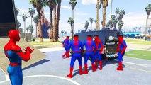Spiderman Disney Cars Lightning McQueen Transport Police Minibus (Nursery Rhymes - Cartoon For Kids)