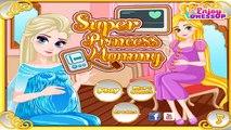 Permainan/Games Elsa Frozen Dan Putri Rapunzel Hamil/Mengandung/Melahirkan Super Princess Mommy