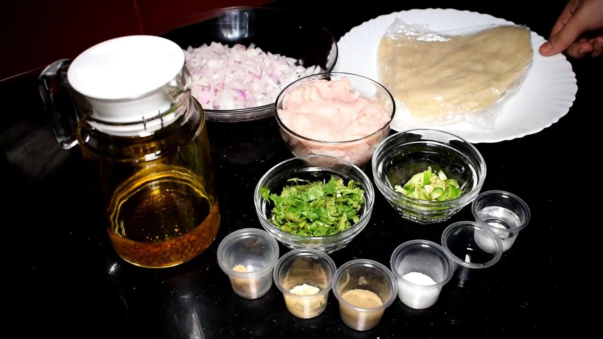 Chicken Samosa Recipe With Homemade Sheets - Simple Chicken Samosa - Special Ramadan Recipe