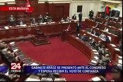 Pleno del Congreso otorga cuestión  de confianza al Gabinete Mercedes Aráoz