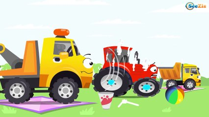 Kids Real Car The Police Car with The Tow Truck   Emergency Cars New Cartoon
