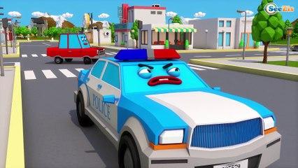 Eğitici çizgi filmi Çekici Kamyon MAX Yeni Arabaları trafik kazasına gidiyor