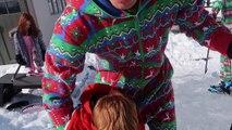 PROFESSIONAL ICE SKATING ON BACKYARD ICE SKATING RINK