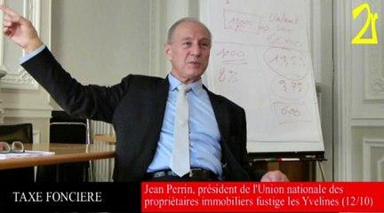 Jean Perrin fustige la fiscalité foncière des Yvelines