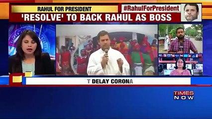 Uttarakhand Congress Passes Resolution For Elevation Of Rahul Gandhi As Party President