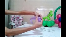 Passo a passo Ponei de Balão (bexiga) - Unicórnio de balão