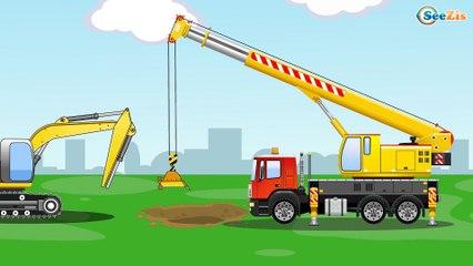 Jeu d'assemblage - La Pelleteuse Jaune et Camion - Voitures de construction - Voitures Pour Enfants