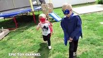 PJ MASKS Catboy Owlette Gekko Disney Junior Parody + PJ Masks Surprise Eggs & Disney Surprise Toys