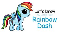 How to Draw My Little Pony Rainbow Dash Cute and Easy