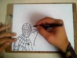 COMO DIBUJAR A SPIDERMAN (CIVIL WAR) / how to draw spiderman (civil war)