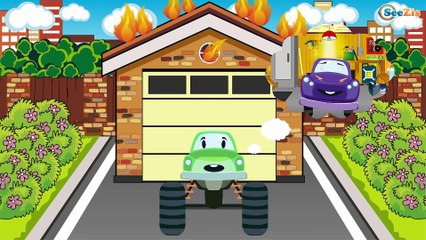 The Brave Fire Truck and Super Cars - Emergency Cars - Cars & Trucks for Kids
