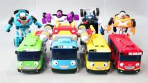 Tayo the Little Bus Tobot Robot Car Garage English Learn Numbers Colors Toy Surprise