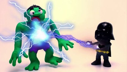 HULK VS DARTH VADER New Star Wars The Last Jedi Superheroes in Real Life Stop Motion