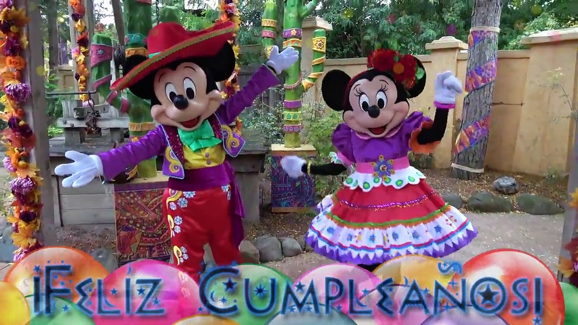 Feliz Cumpleaños Mickey Y Minnie Mouse Canciones De Felicitaciones Video Dailymotion