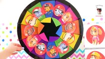 Paw Patrol Spin the Wheel Game Learn Colors w Skye Marshall Chase Zuma Rubble Rocky Toys & Play-Doh