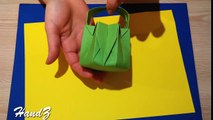 Paper Basket for sweets. Origami basket. Ideas for Easter
