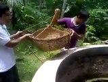 Vidéo du jour :ils tentent de sauver un chat tombé dans un puits.Apeuré, la réaction du matou est tout simplement ahur