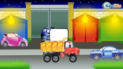 The Yellow Tow Truck on the road + 1 Hour kids videos compilation Vehicles Cartoons for children