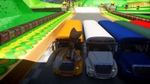 SCHOOL BUS CARS COLORS & SONIC THE HEDGEHOG, AMY ROSE, MILES TAILS PROWER Nursery Rhymes Songs for C