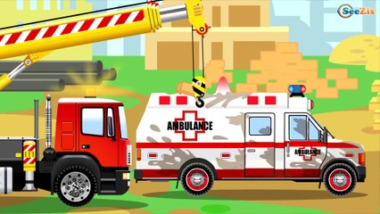 The Red Bulldozer and The Truck | Construction Trucks & Service Vehicles Cartoons for children