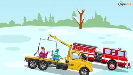 МУЛЬТИКИ ПРО МАШИНКИ Пожарная машина Развивающие мультфильмы для детей