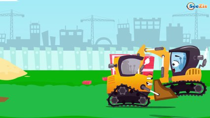 La Excavadora y amigos - Carros en español - Carritos para niños